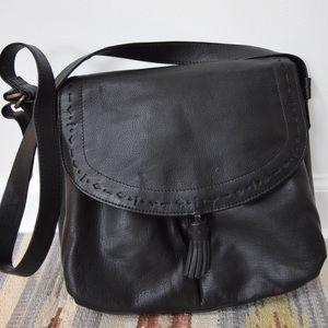 Liz Claiborne Black Leather Crossbody Purse